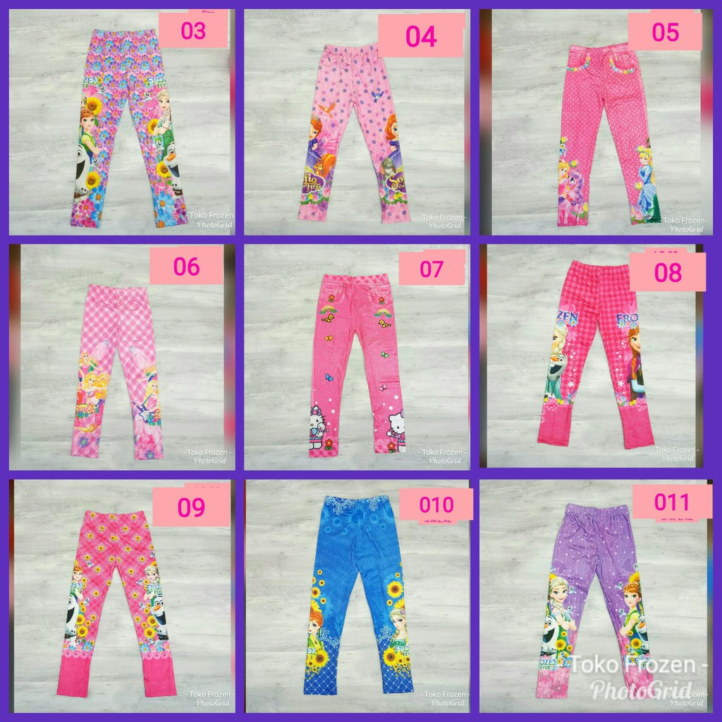 Legging Anak Karakter Celana Legging Anak Termurah Celana Legging Anak Printing Shopee Indonesia