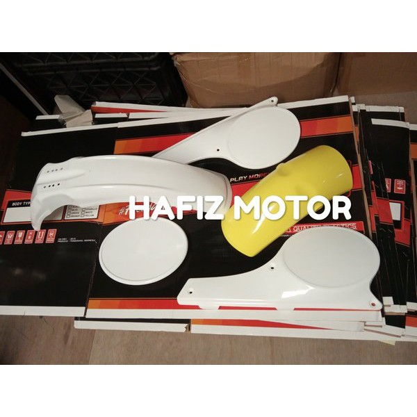 Cover Body Set Ts Jadul 125 Spakbor Depan Trail Belakang Plat Nomer Clasic Dt Part