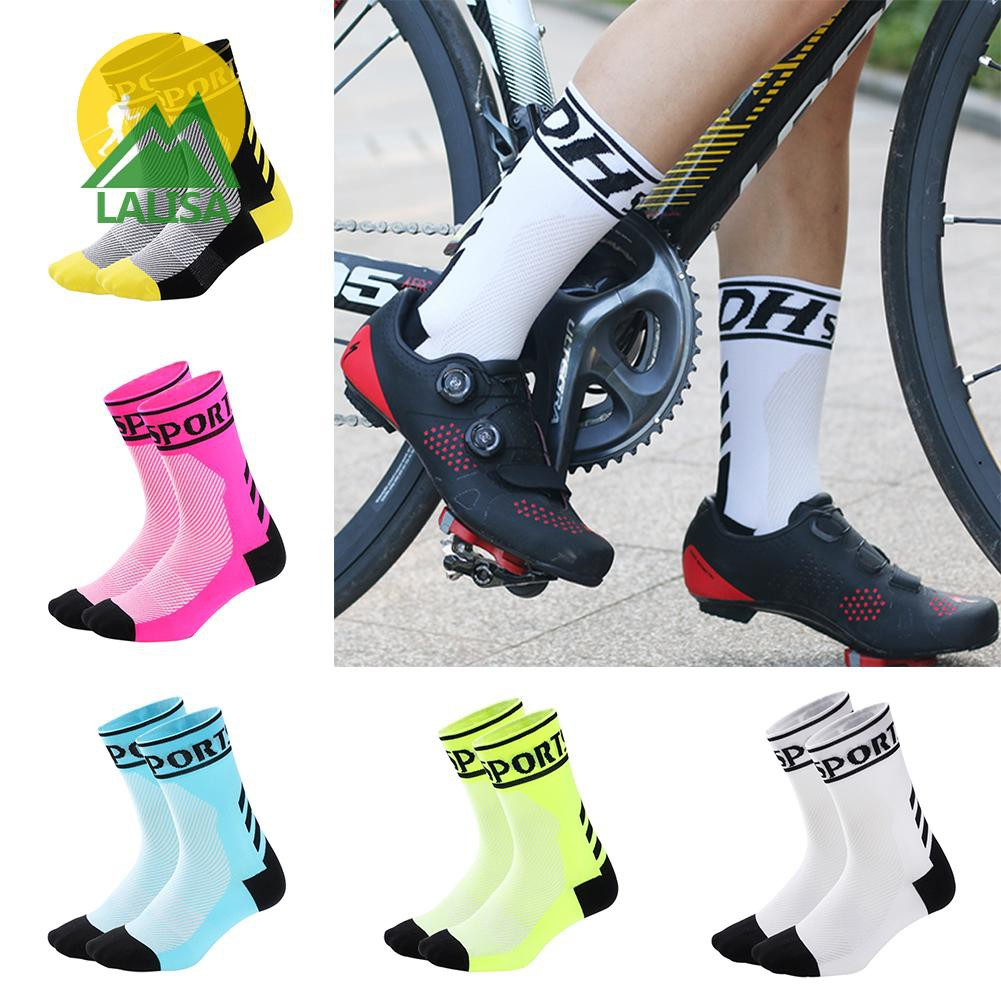 DH Sports Cycling Socks Bicycle Mid Calf Socks for Outdoor Running Sports BEST