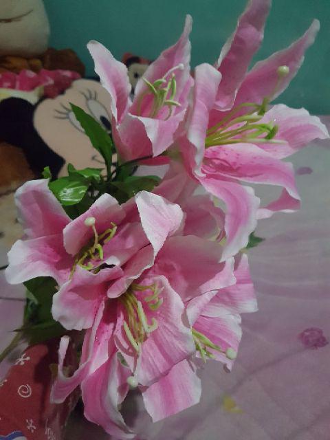BUNGA LILY BESAR - bunga plastik artificial home decor shabby chic ... 4003ee91c6