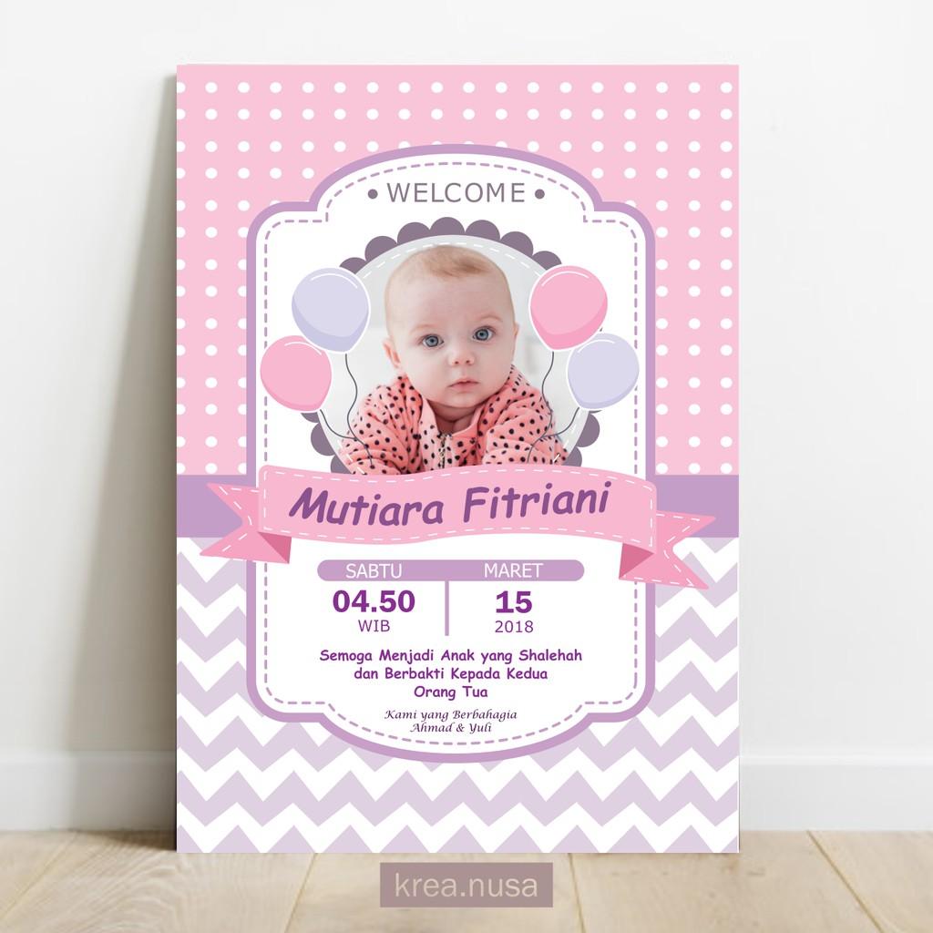 Desain Banner Kelahiran Bayi Perempuan - kumpulan contoh ...