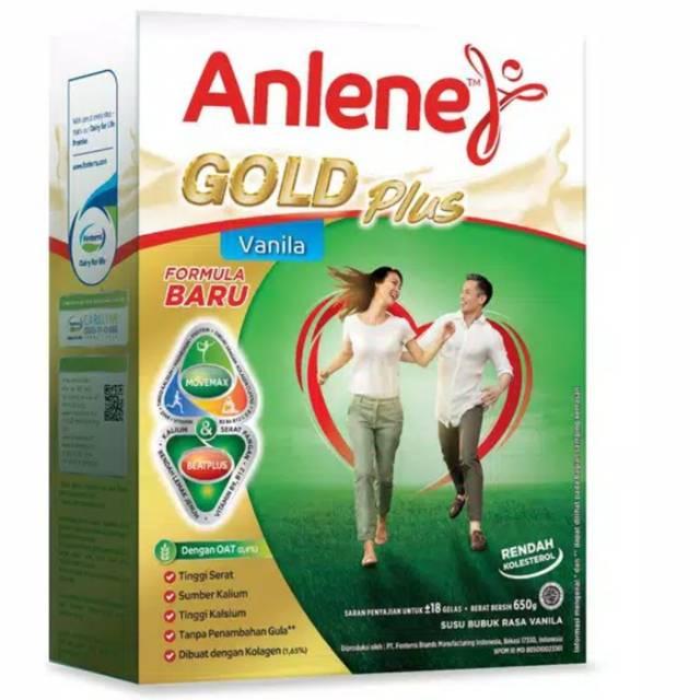 Anlene Gold Plus Vanila 650gr Susu Lansia Nutrisi Lansia Shopee Indonesia