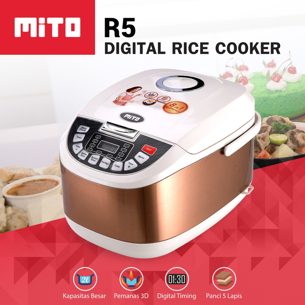 Yong Ma Digital Magic Com Mc 3700 2 Liter Rice Cooker Yongma New X7703 Shopee Indonesia