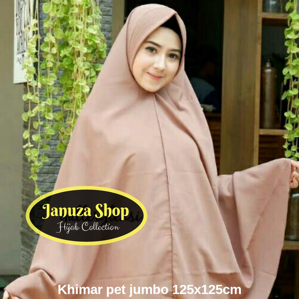 Daily Khimar Jilbab Hijab Kerudung Instan Bergo Jumbo Syari Pet Jumboo Antem Simple Penguin Wolfis Shopee Indonesia