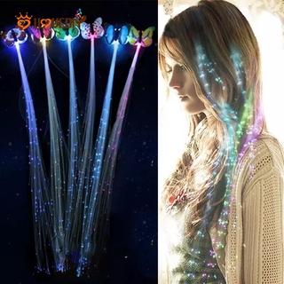 Extension Rambut Sintetis Model Kepang Dengan Lampu Led Untuk Wanita thumbnail