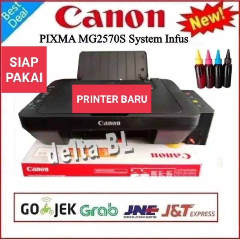 Printer Infus Canon Mg2570s All In One Print Scan Foto Copy Shopee Indonesia