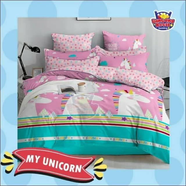 Bedcover Set Star Sprei Bed Cover Unicorn Diamond Shopee Indonesia
