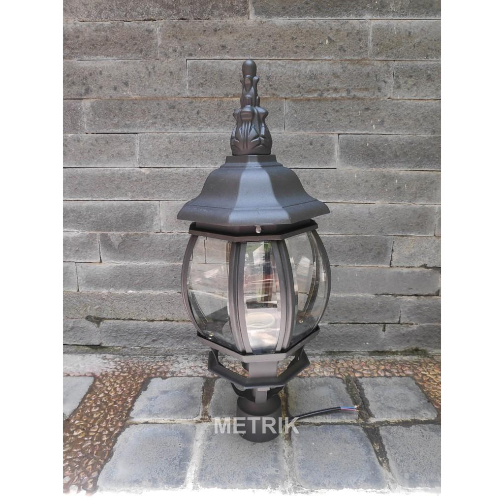 Lampu Taman Outdoor Lampu Tiang Pagar Lampu Hias Taman Klasik Lampu Outdoor 2114 Shopee Indonesia