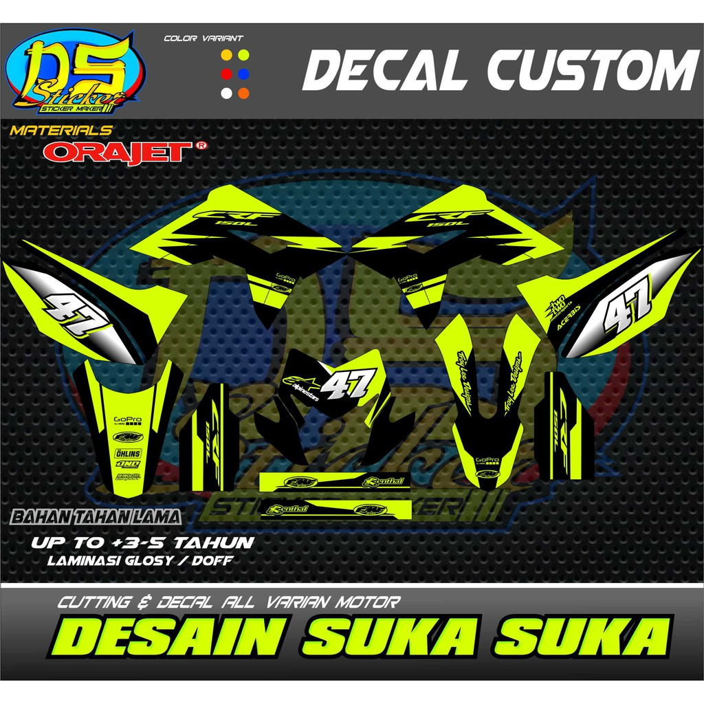 Decal crf 150 hijau stabilo print