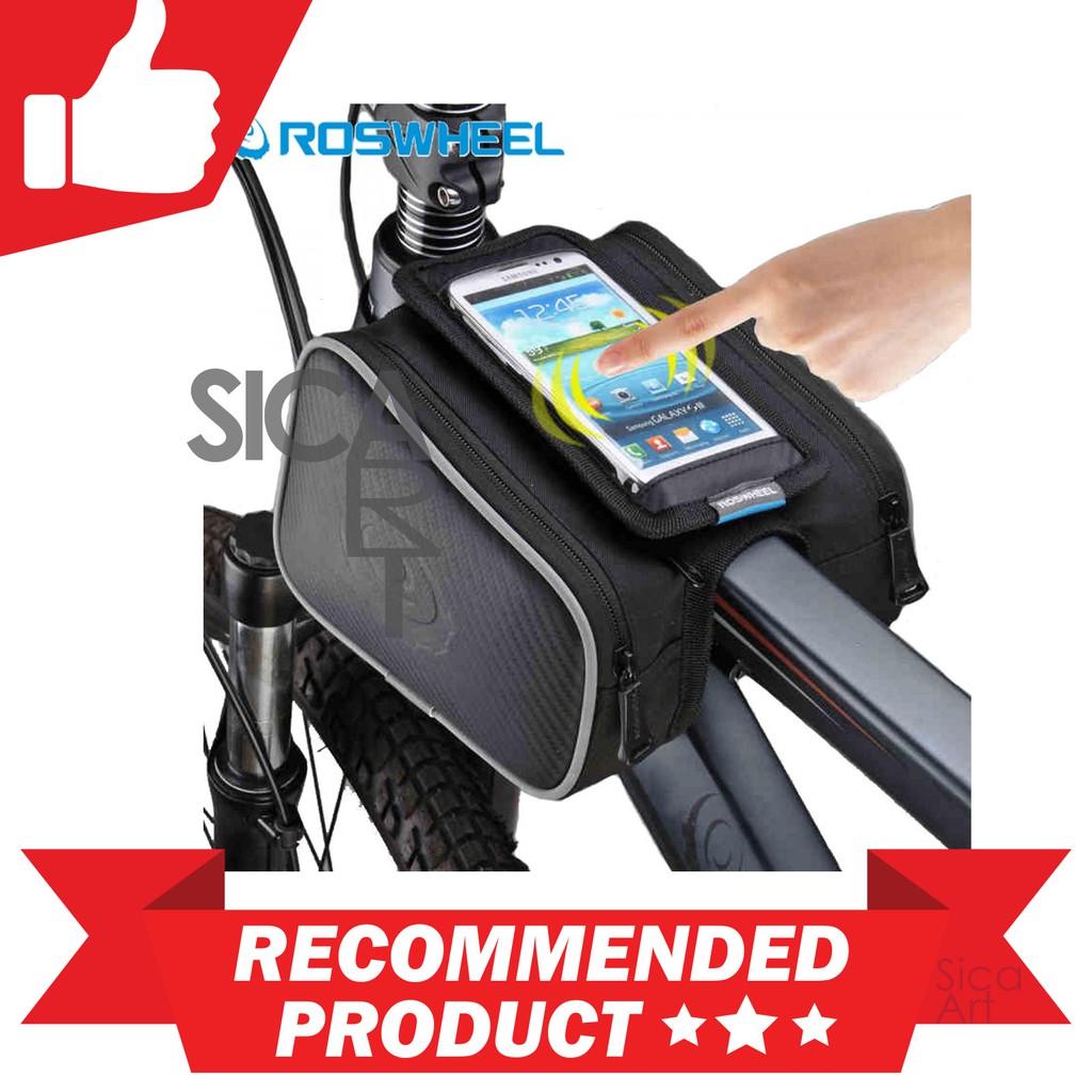 Roswheel Tas Sepeda Waterproof Dengan Case Smartphone Shopee Indonesia Bike Bag With