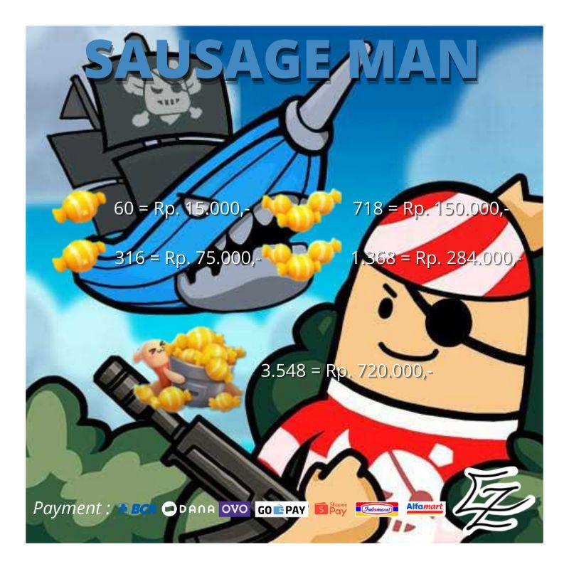 Candy Sausage Man Murah 100% Legal   Top Up Sausage Man Candy