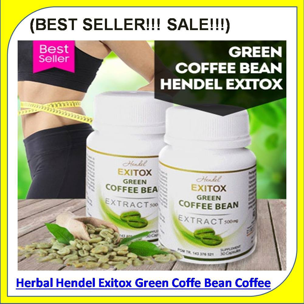Exitox Green Coffee Bean Hendel Obat Pelangsing Herbal Alami Halal Cofe Extract Shopee Indonesia