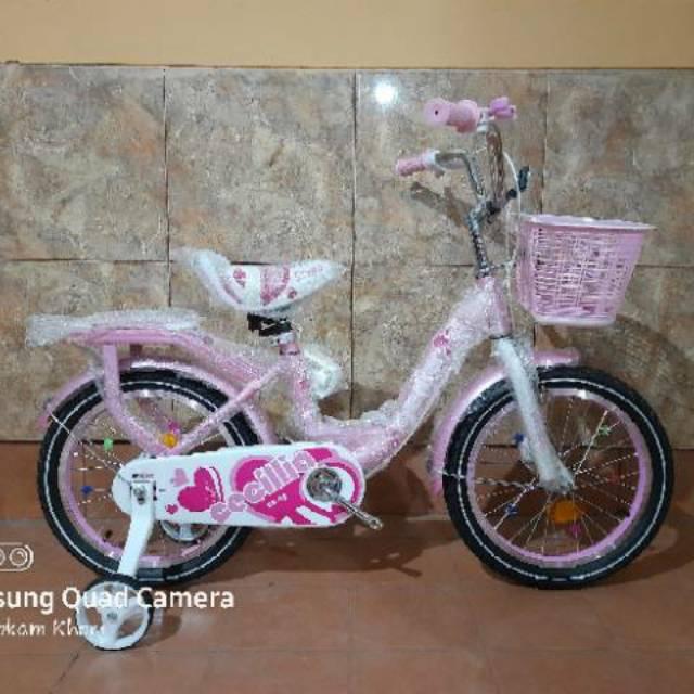 Sepeda anak perempuan genio cecilia by united ring 16 SNI
