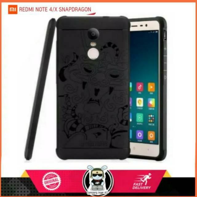 Softcase Motif DRAGON Xiaomi Redmi Note 4X ORIGINAL COCOSE Soft Case Ukir Naga Black New Lentur | Shopee Indonesia