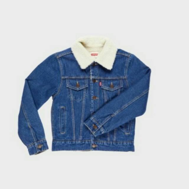 86+ Model Jaket Jeans Kerah Berbulu Terlihat Keren