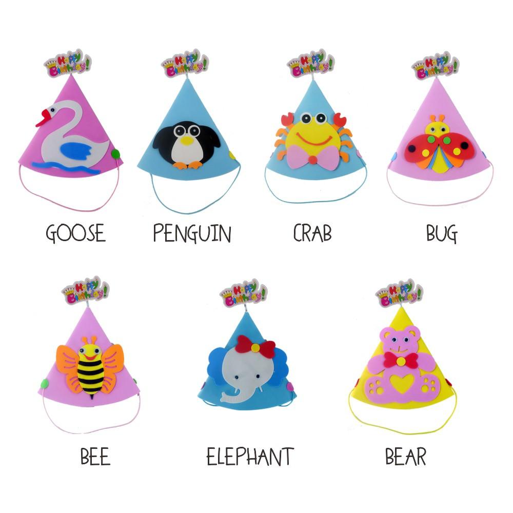 Top Ten Mewarnai Gambar Topi Ulang Tahun