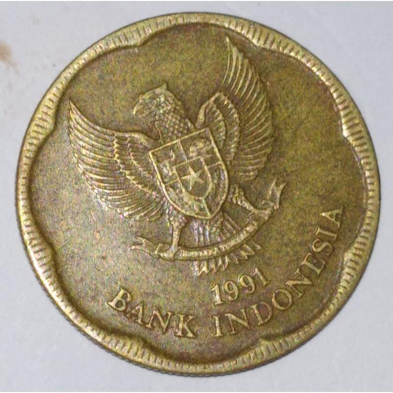uang koin 500 rupiah tahun 1991 seri melati