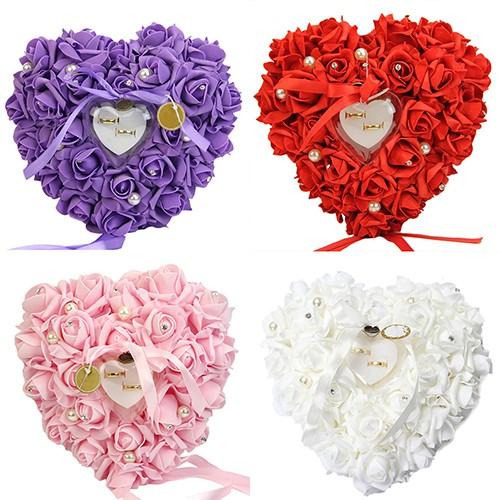 Bantal Cincin Bentuk Hati Romantis Motif Bunga Mawar Shopee