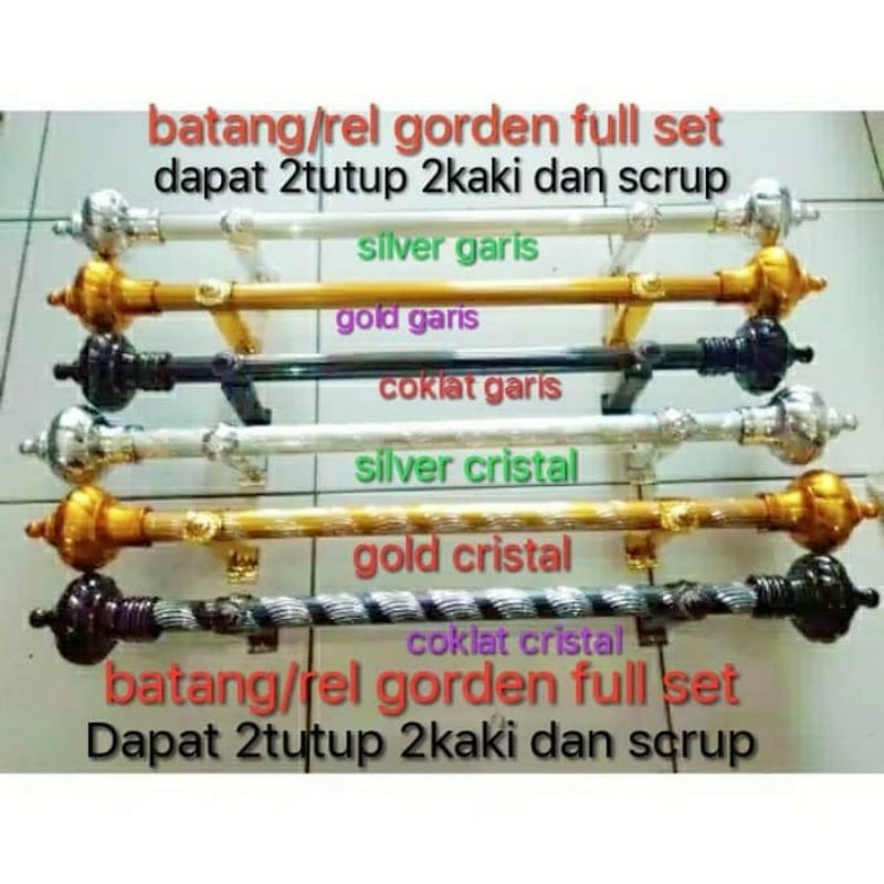 "Batang gorden"" besi gorden""batang rel gorden"" batang rolet gorden"