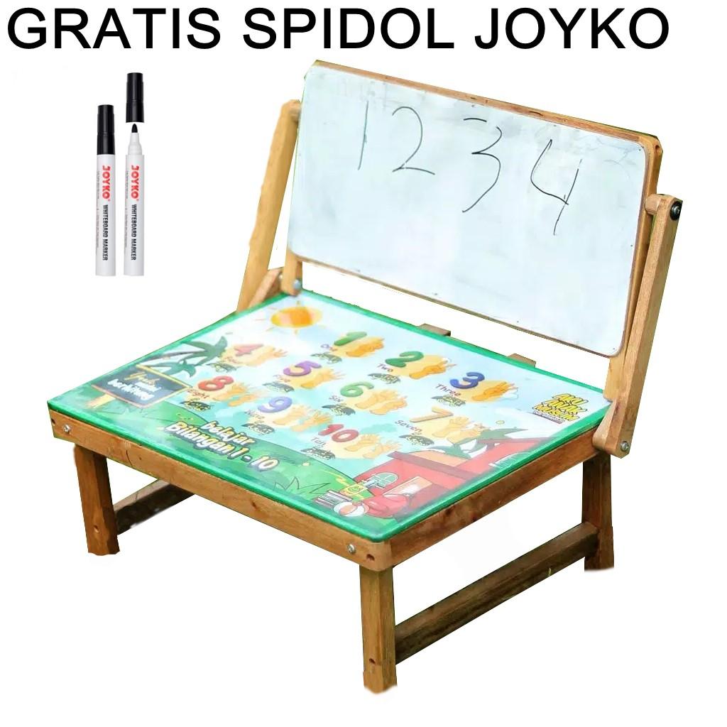 Meja Belajar Lipat Meja Belajar Anak Minimalis Meja Karakter White Board Papan Tulis Kayu Kokoh Shopee Indonesia Harga meja belajar lipat anak