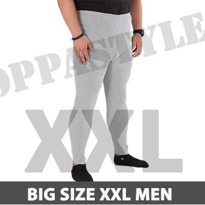 Jual Big Size Xxl Basic Legging Pria Celana Legging Panjang Training Sport Murah Shopee Indonesia