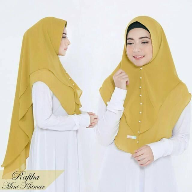 HITAM KHIMAR RAFENIA / Motif Hijab / Pashmina Instan / Khimar Layer / Murah Wanita | Shopee Indonesia