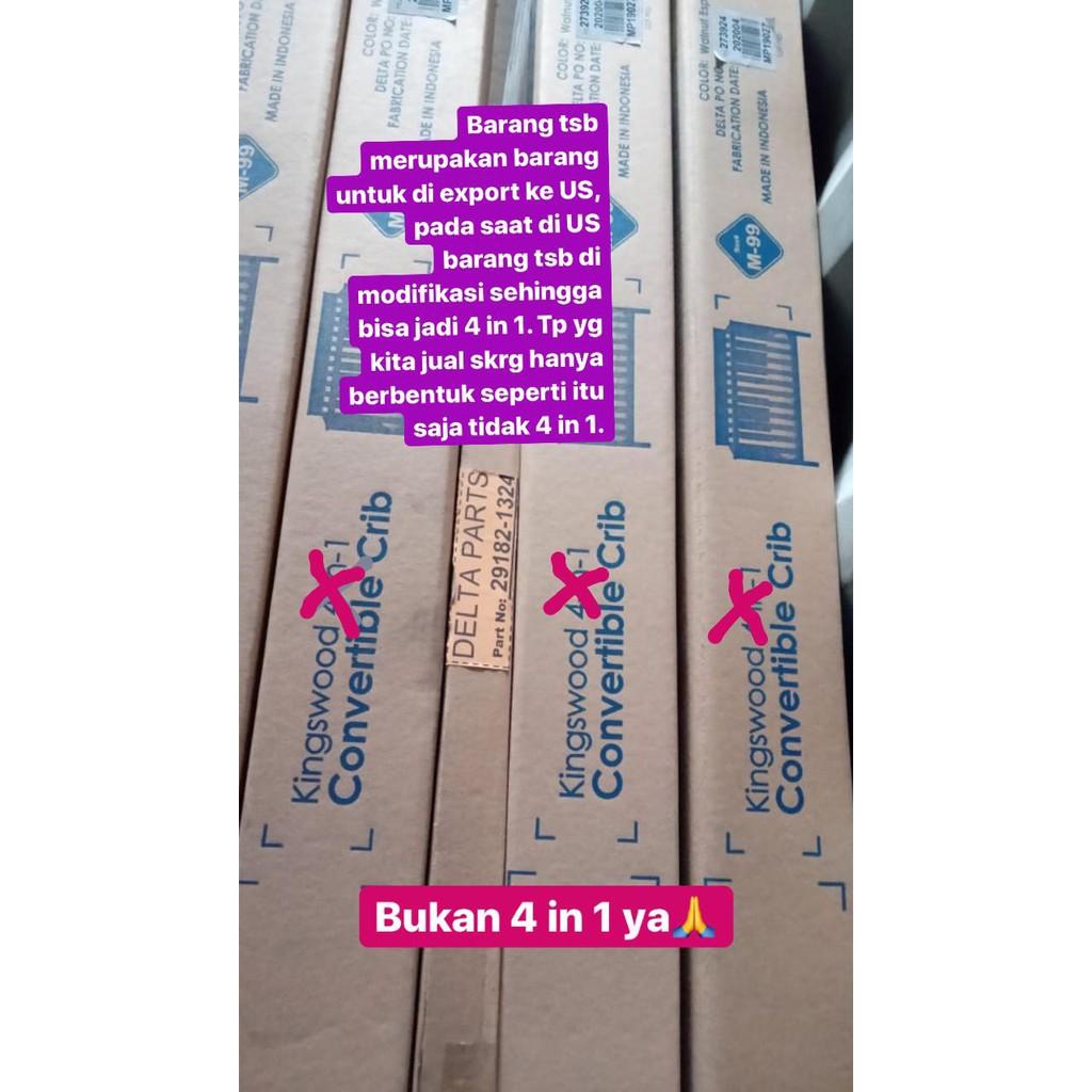 Kingswood Baby Crib Original Ranjang Bayi Box Bayi Kayu Full Kayu Mahoni Kualitas Export Usa Shopee Indonesia