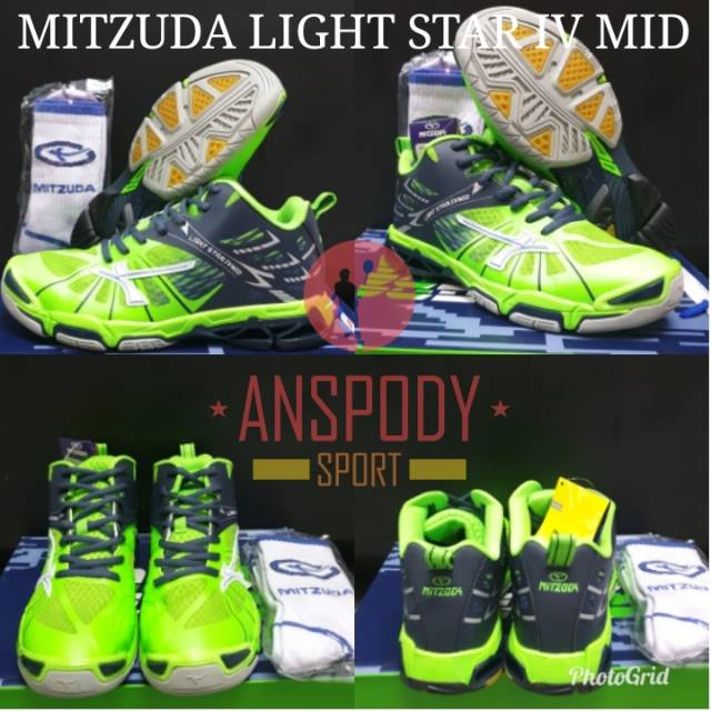 Sepatu Volleybadminton Mitzuda Light Star Iv Mid Original - Theme ... dffd07d1c3