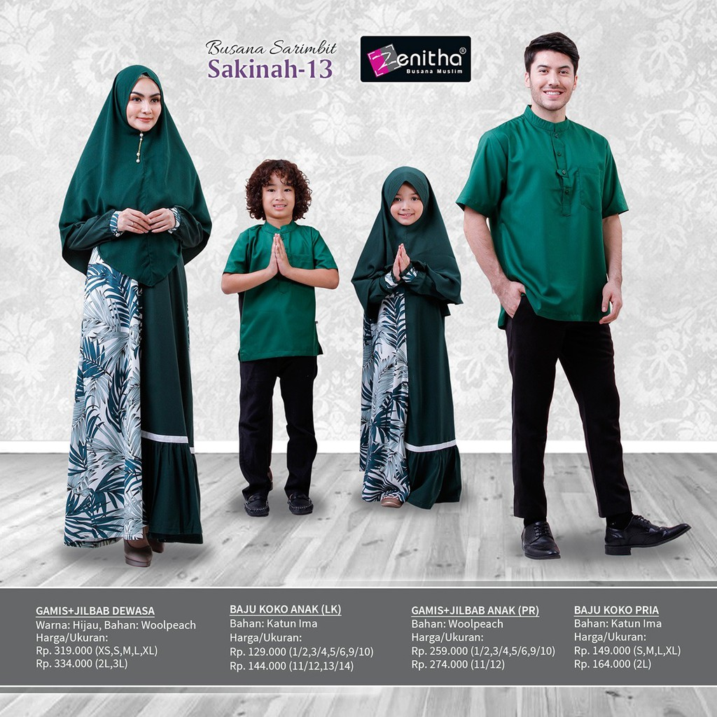Busana Muslim Keluarga Sarimbit Zenitha Sakinah 13 Shopee Indonesia