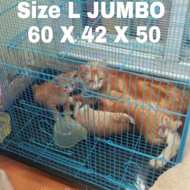 Kandang Kucing Burung Kelinci Hamster Landak Size L