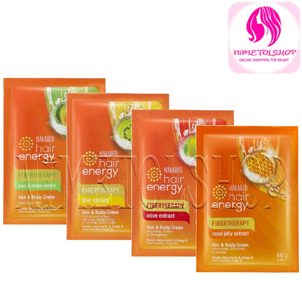 Makarizo Hair Energy Hair Scalp Cream 60gr Satuan Sachet Creambath Rambut Hair Spa Hairspa Shopee Indonesia