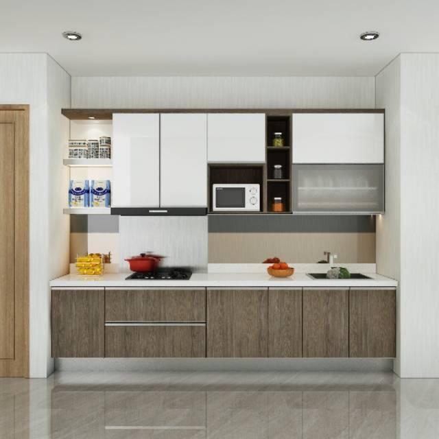 Kitchen Set Lemari Dapur Minimalis Dengan Material Multiplek Shopee Indonesia