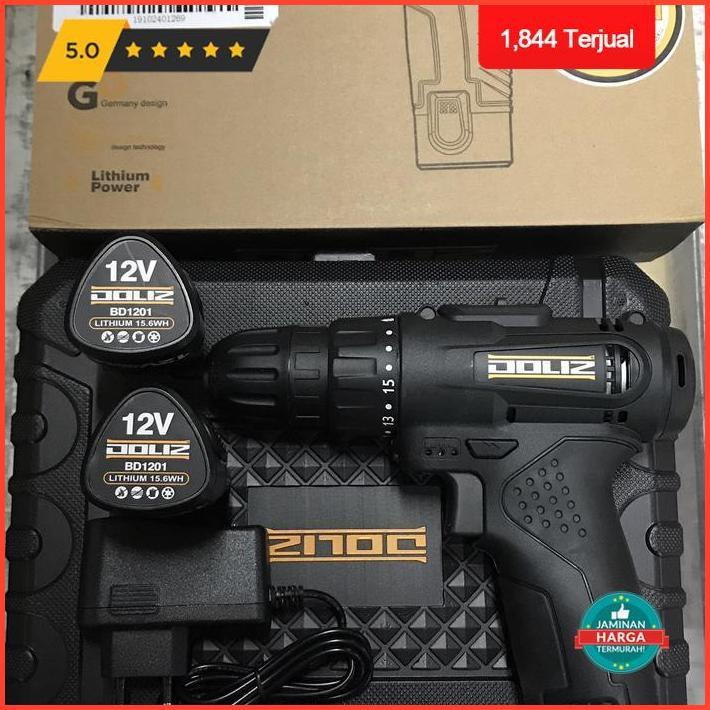 Mesin Bor Batre 10Mm Bd621 Doliz / Mesin Bor Baterai 10Mm Doliz Limited