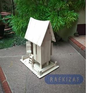 Kwalitasprakarya Maket Miniatur Rumah Adat Minang Padang Dari Stik Es Krim Popular