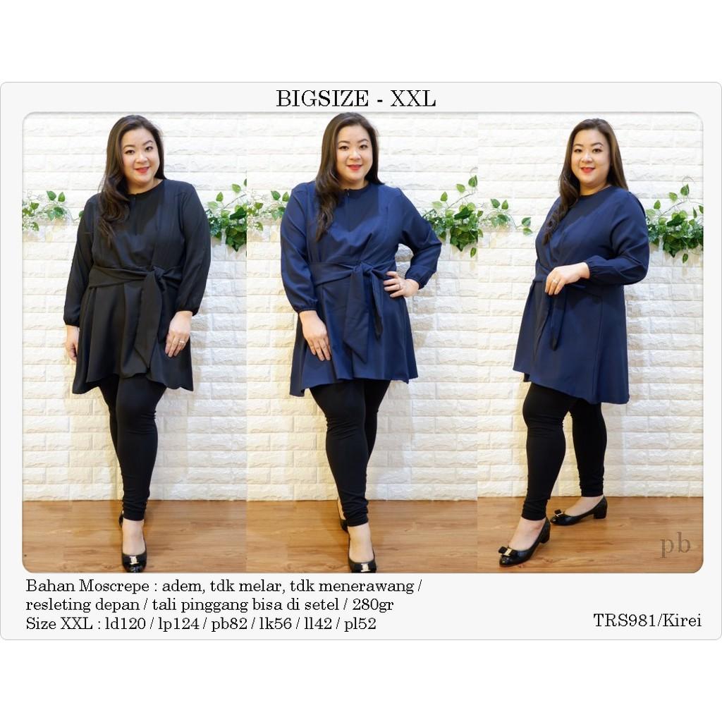 Bigsize Blouse Jumbo Baju Atasan Wanita Big Size Ukuran Besar Tf794 Star Xxl Shopee Indonesia