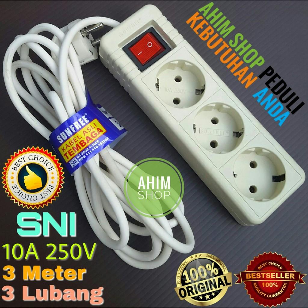 Yunior Stop Kontak Listrik 5 Lubang Colokan Multisocket Saklar Kabe Roll 10 Meter 4 Switch On Off Plus 15 Kabel Shopee Indonesia