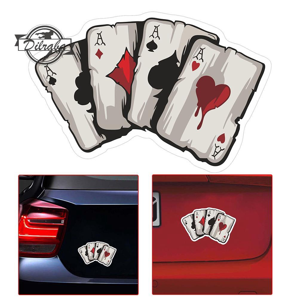 Dr Cod Stiker Reflektor Motif Kartu Poker Untuk Mobil Motor Shopee Indonesia
