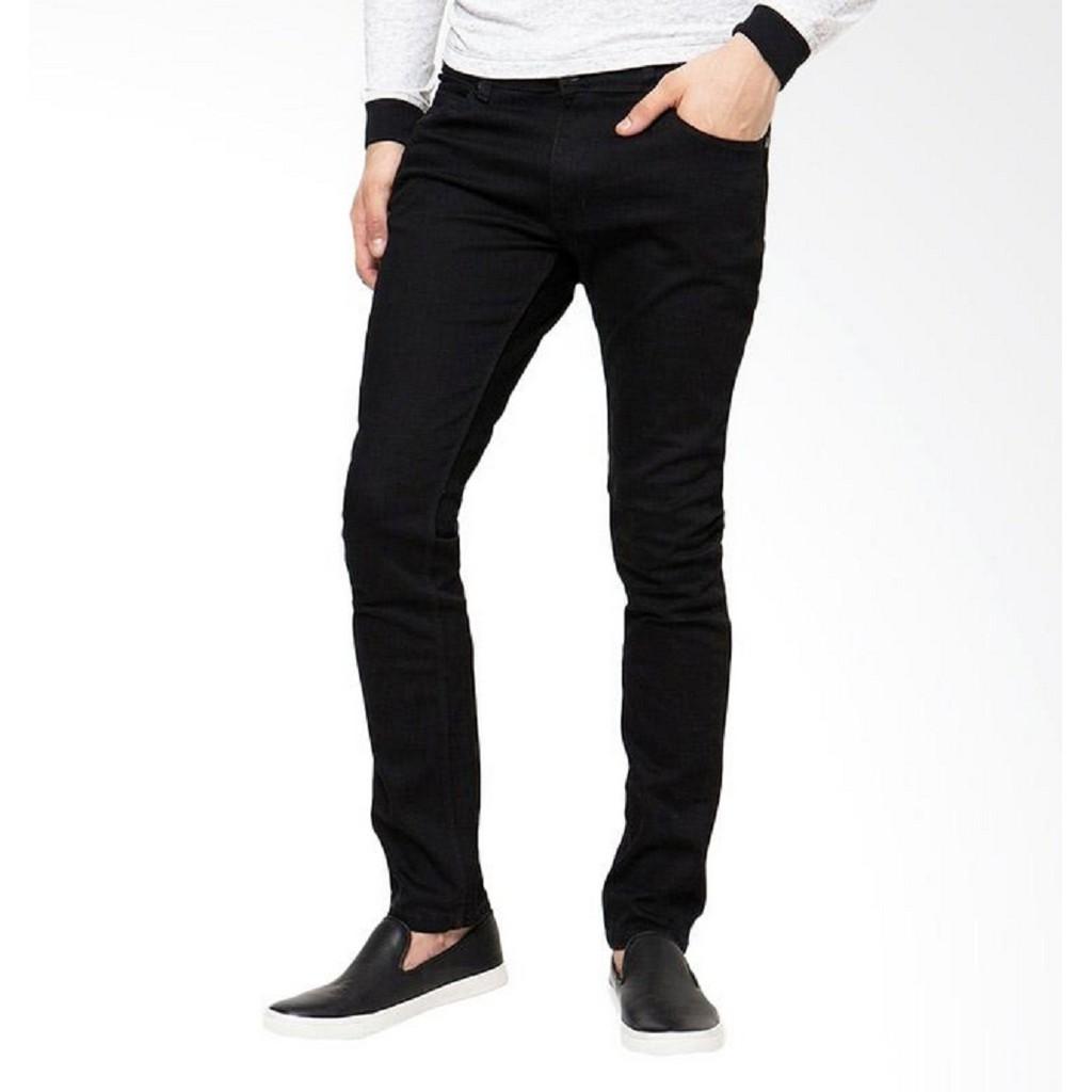 celana jeans hitam skinny / Jeans panjang pria   Shopee