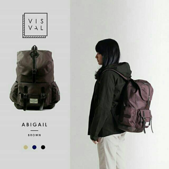 Tas Ransel Visval - Juno Lava Merah Backpack - Travel bag Tas Wanita punggung Tas laptop tas kuliah | Shopee Indonesia