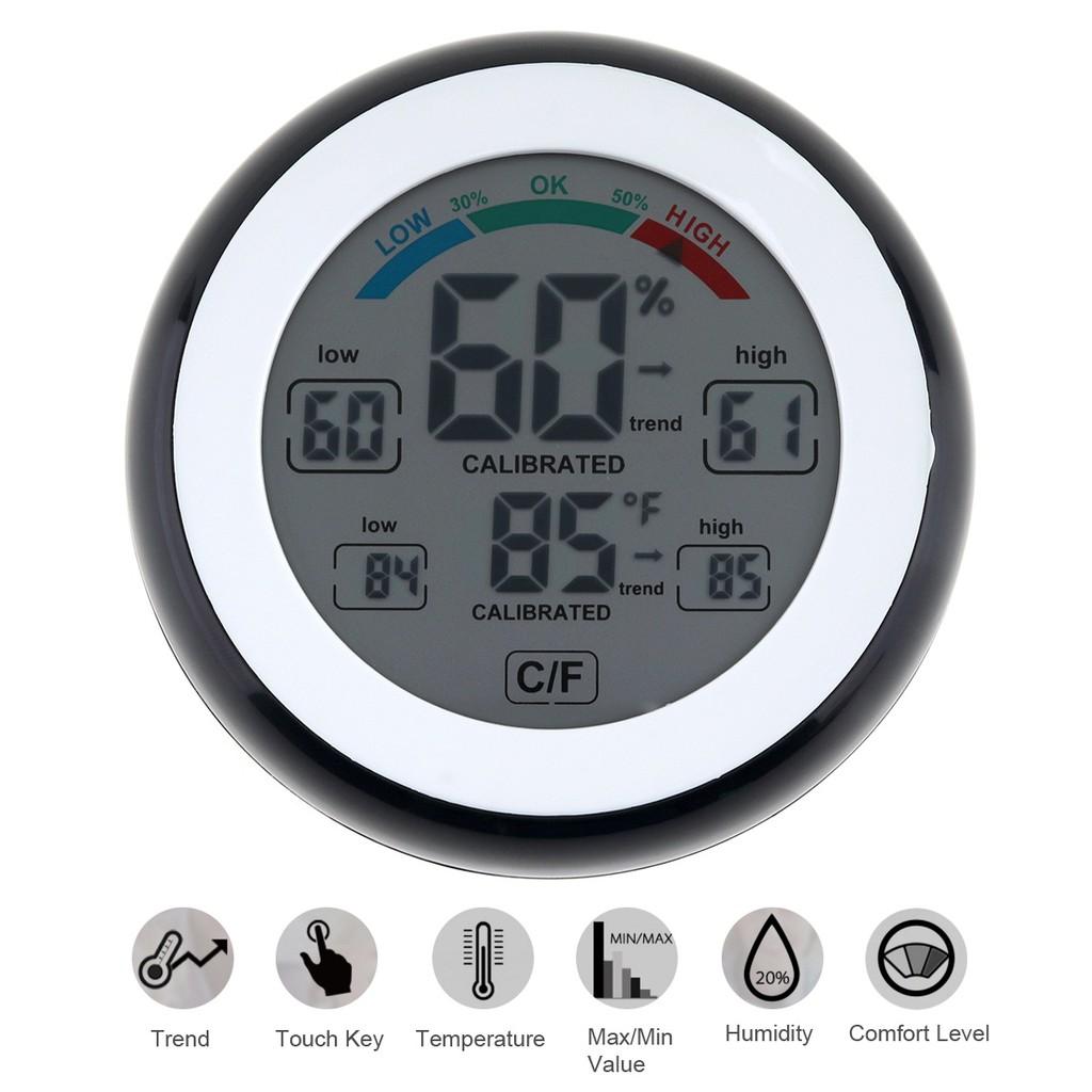 Thermo Hygrometer Analog Alat Pengukur Suhu Dan Kelembapan Ruangan Thermohygrometer Thermometer Htc 1 Digital Lcd Limited Shopee Indonesia