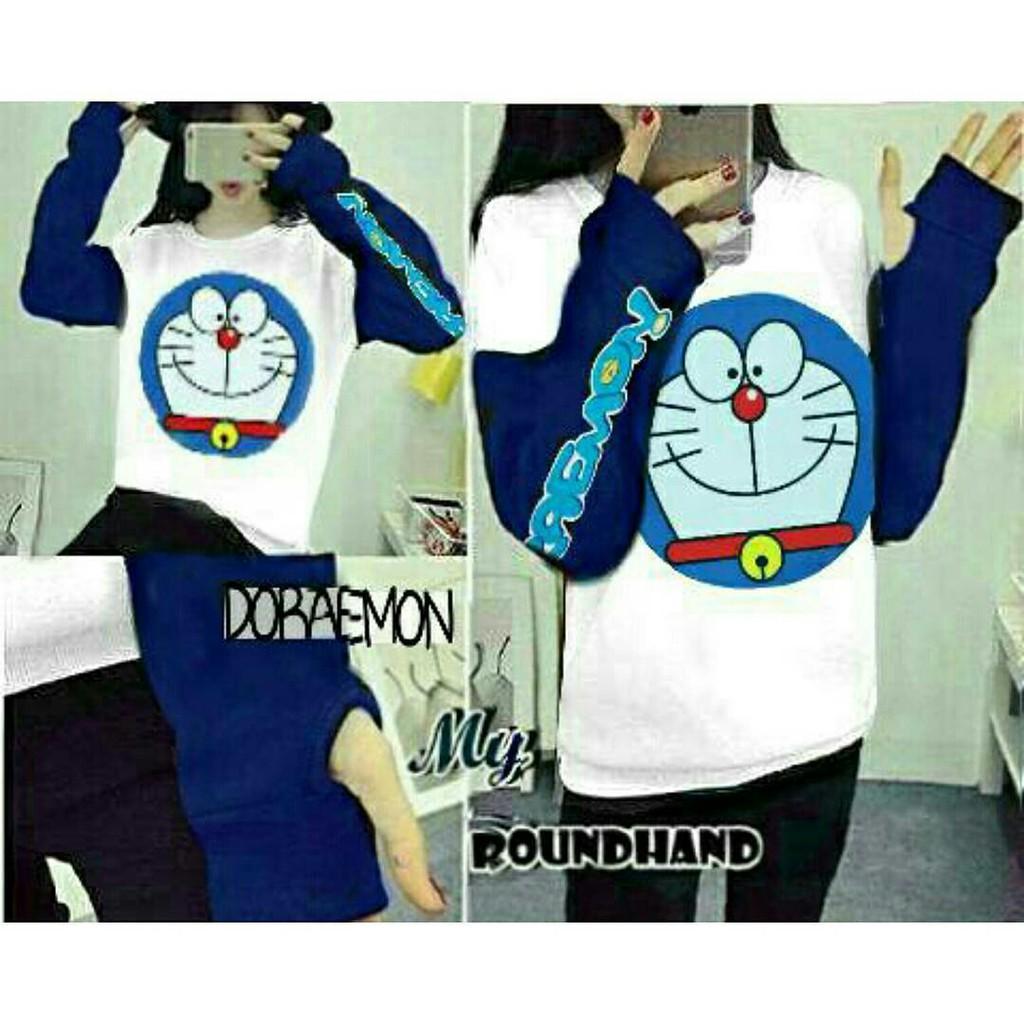 Roundhand Panda Merah Shopee Indonesia Secker Sweater Sj0015