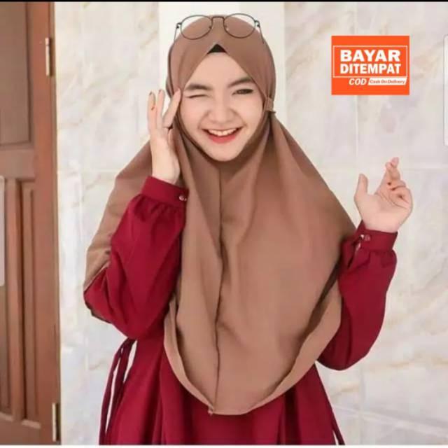 Jilbab Bergo Maryam Part 2 Bahan Wolfis Premium Shopee Indonesia