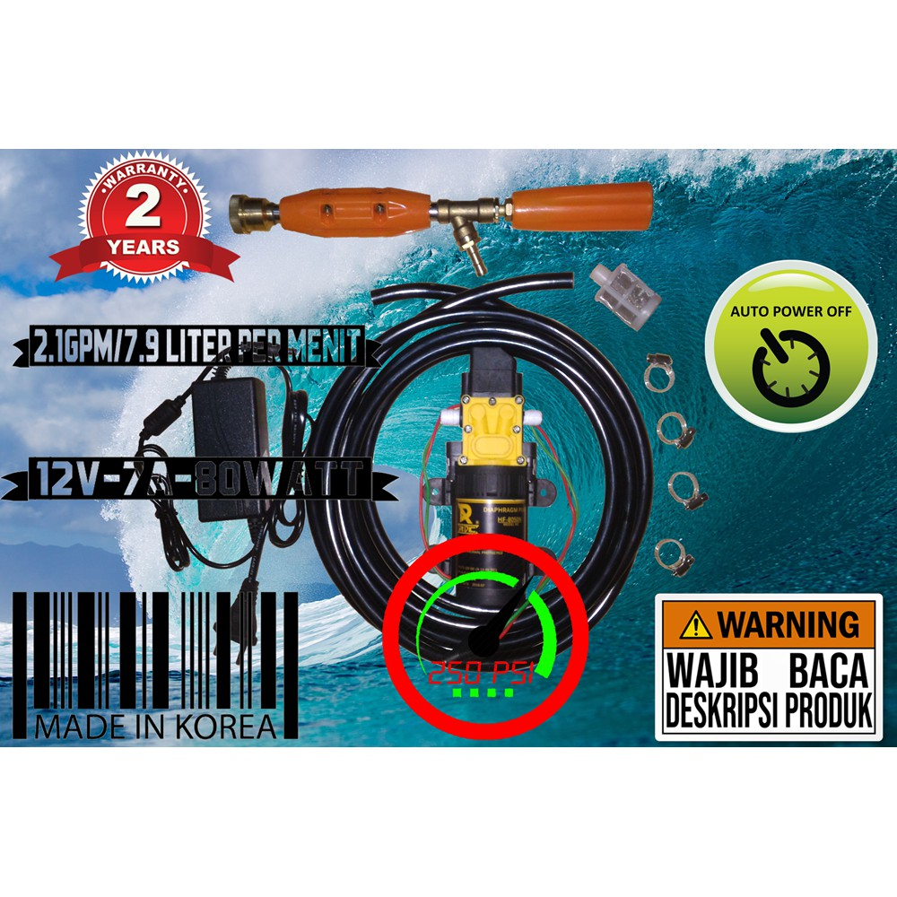 Pompa Air Diafragma tekanan tinggi Electric Pump 12V - Black G705 | Shopee Indonesia