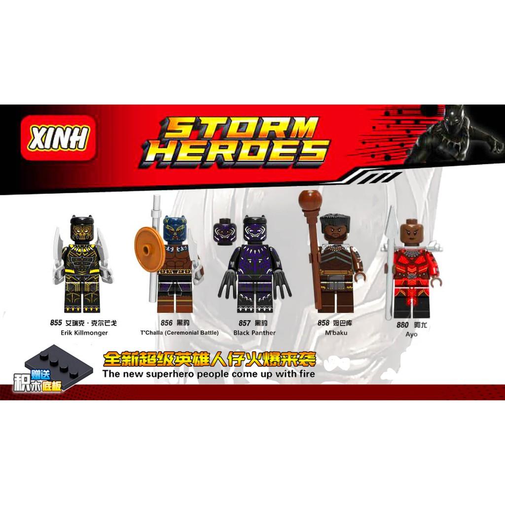 Popular Hero Action Figures Black Panther M/'baku Shuri Erik Killmonger Brick