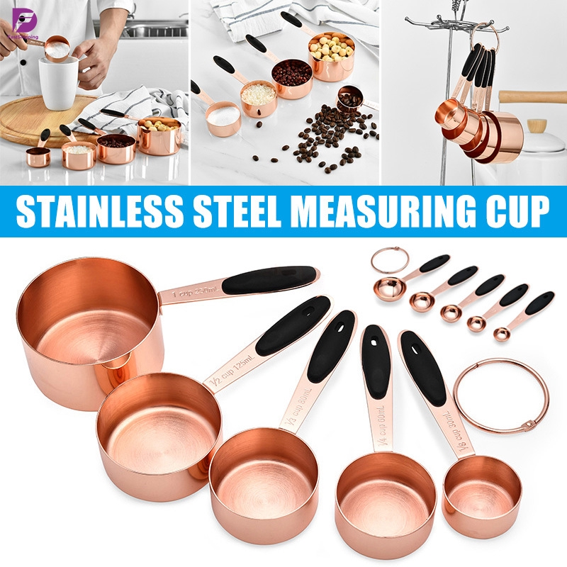 5//10X Stainless Measuring Cups /& Spoons For Baking Cooking Coffee Kitchen Tools