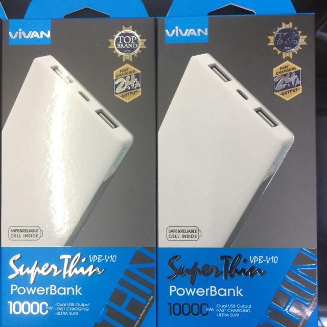 Vivan VPB-P10 10200mAh QC3.0 Fast Charging Power Bank Original | Shopee Indonesia