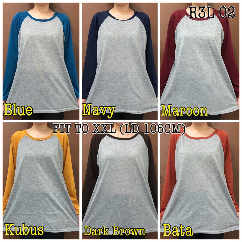 LOLILE Kaos Cewe gelas pendek/ cewe gelas panjang -all size fit to L | Shopee Indonesia