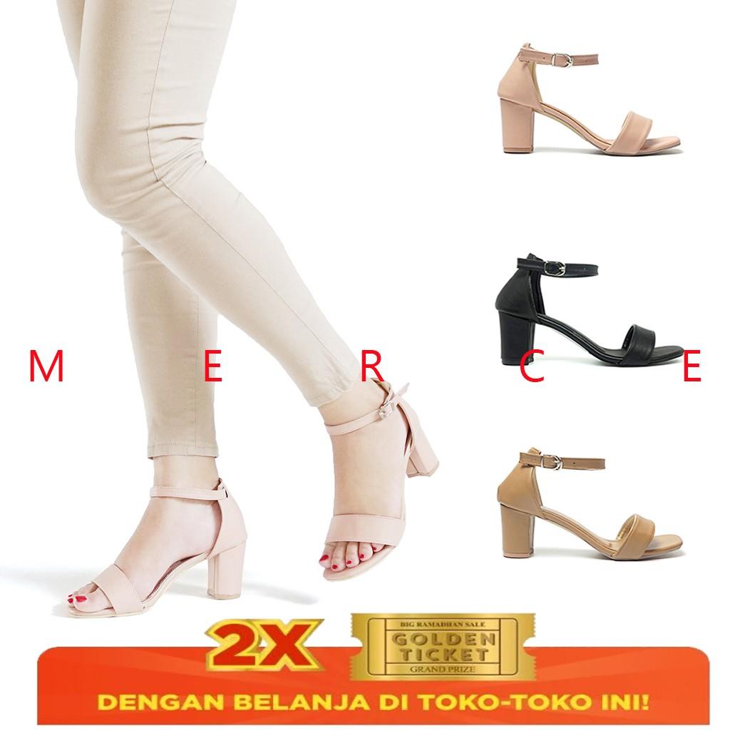 BnG Corner - Sepatu Pantofel Hak Tinggi High Heels Wanita ML01 - Kuning / Hitam / Cream / Merah   Shopee Indonesia