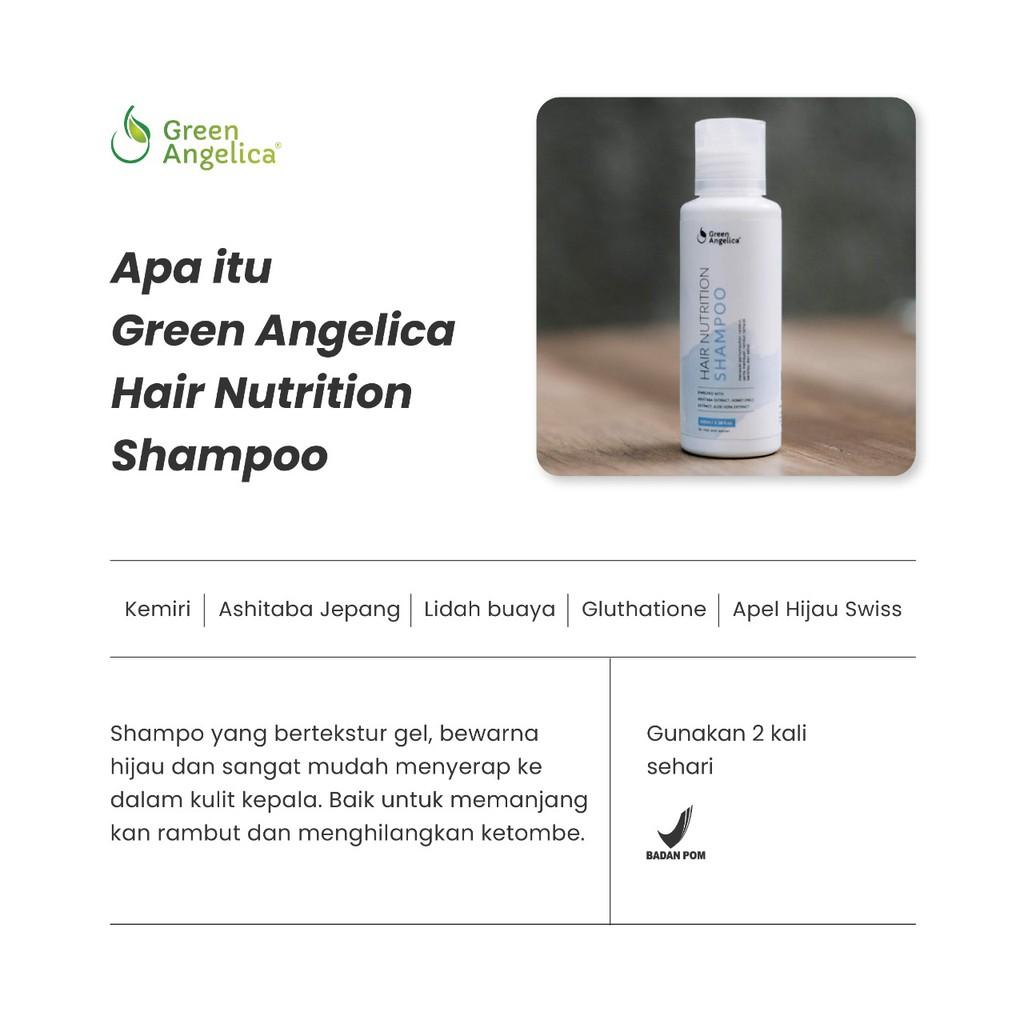Shampoo Green Angelica Perawatan Rambut Rontok Mengatasi Ketombe-1