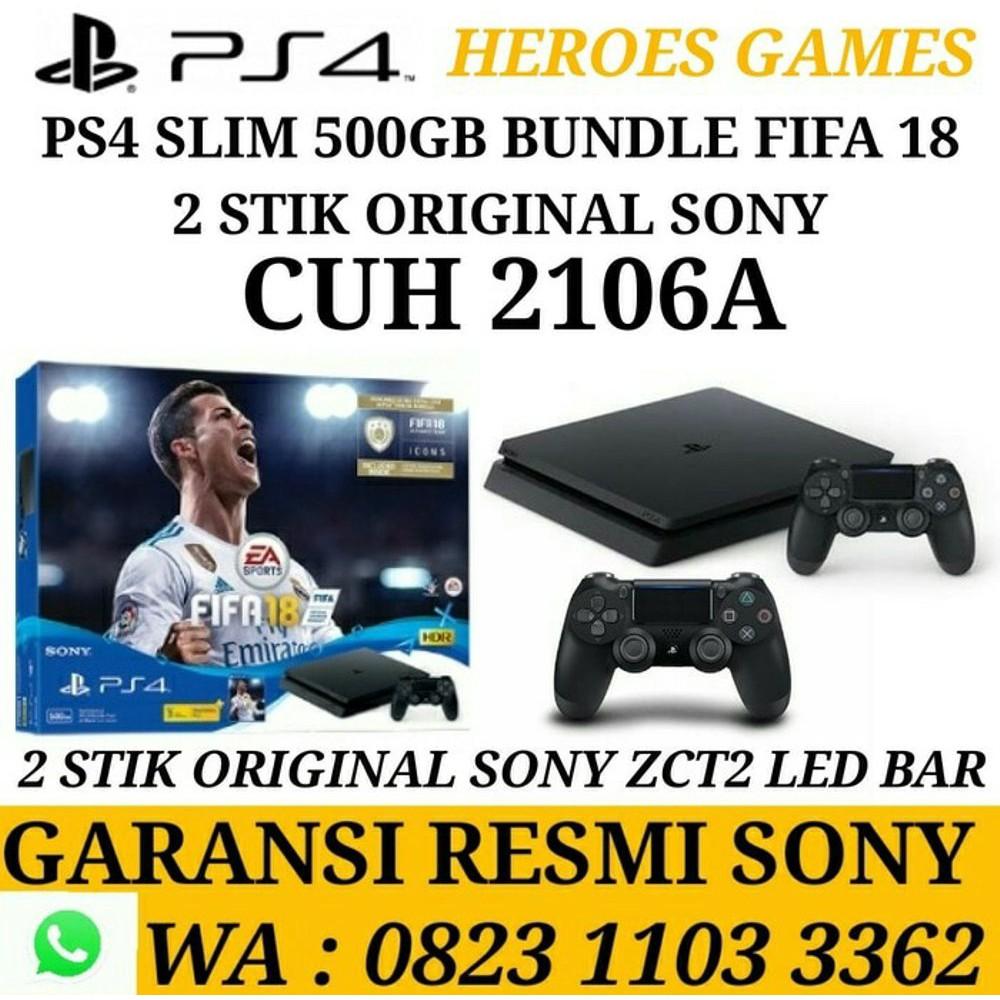 Terbaru Ps4 Slim Hdd 500 Gb Jet Black Cuh 2006a Garansi Resmi Sony Playstation 4 500gb Hits Bundle Indonesia 100 Berkualitas Shopee